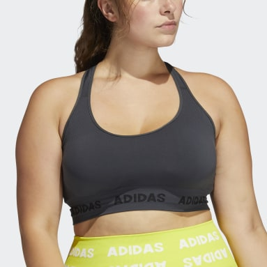 Women Cricket Grey Training Aeroknit Bra (Plus Size)