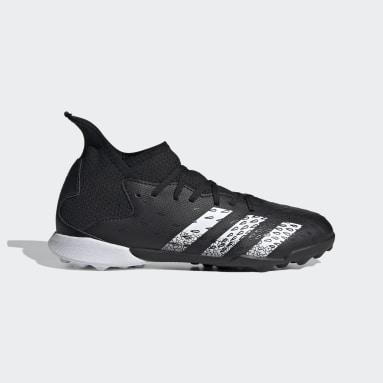Children Soccer Black Predator Freak.3 Turf Shoes