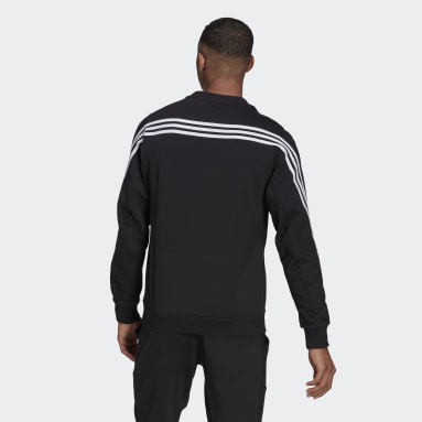 Men's Sportswear Black adidas Sportswear 3-Stripes Sweatshirt