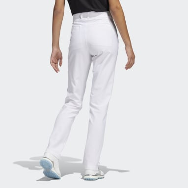 Women Golf White Primegreen Full-Length Pants