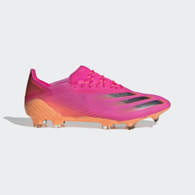 Bota de fútbol X Ghosted.1 césped natural seco Rosa Fútbol