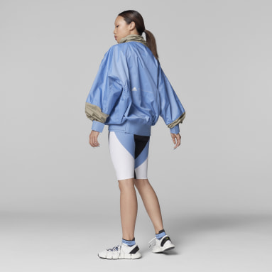 Women adidas by Stella McCartney Blue adidas by Stella McCartney BeachDefender Half-Zip Jacket