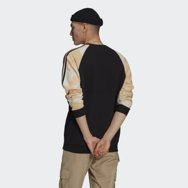 Felpa Camo Stripes Crewneck Nero Uomo Originals