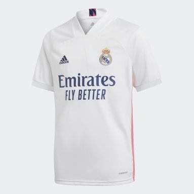 Børn Fodbold Hvid Real Madrid 20/21 hjemmebanetrøje