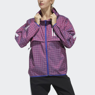 Women Sportswear Red adidas W.N.D. Jacket