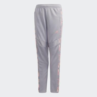 Pantalon d'entraînement Tiro 19Filles gris Adolescents Soccer
