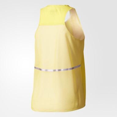 Playera Run adizero Loose Tank Amarillo Mujer adidas by Stella McCartney
