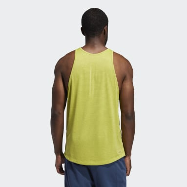 Men's Yoga Yellow AEROREADY 3-Stripes Flow Primeblue Tank Top
