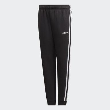 Boys Training Black Essentials 3-Stripes Pants
