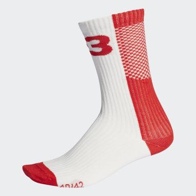 Women's Y-3 Red Y-3 Colorblock Socks