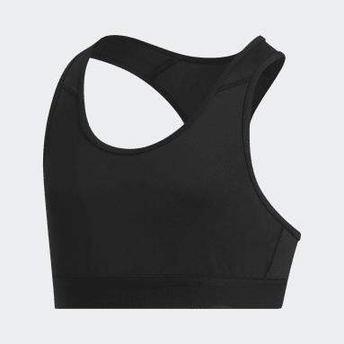 Mädchen Sportswear Techfit Don't Rest Sport-BH Schwarz