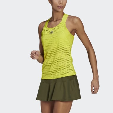 Women Tennis Yellow HEAT.RDY Primeblue Tennis Y-Tank Top