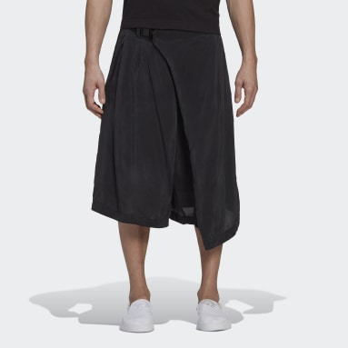 Men Y-3 Black Y-3 CH3 Sanded Cupro Shorts