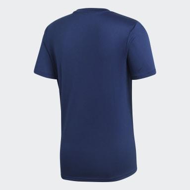 Mænd Fitness Og Træning Blå Core 18 træningstrøje