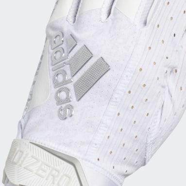 Football White Adizero 9.0 New Reign Receiver Gloves