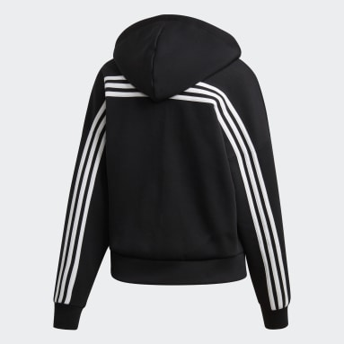 Women Sportswear Black Must Haves 3-Stripes Hoodie
