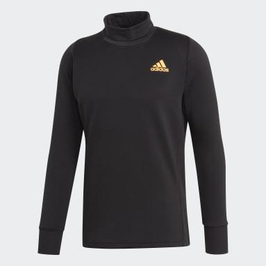 Men's Tennis Black Thermal Midlayer Top