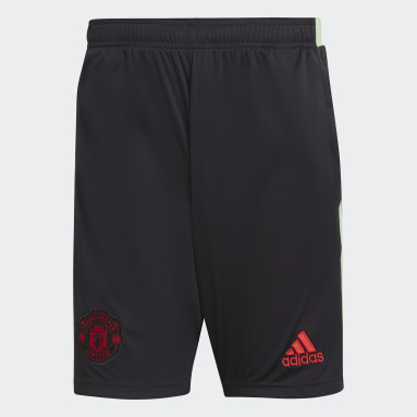 Men Football Black Manchester United Shorts