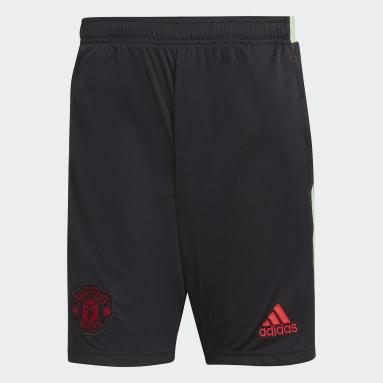 Men Football Black Manchester United Shorts