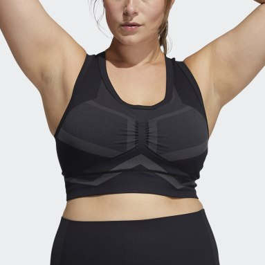Women Studio Black Studio Two-Tone Bra (Plus Size)