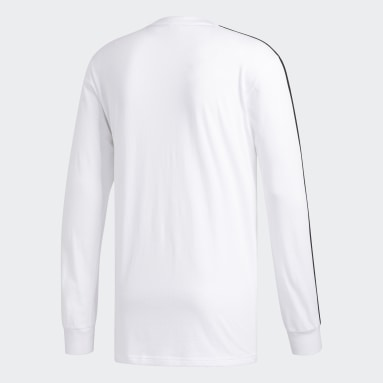 Men Essentials White 3-Stripes Tee