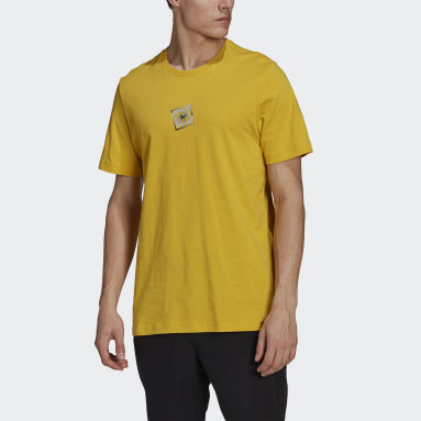 Men Five Ten Yellow Five Ten Heritage Logo T-Shirt