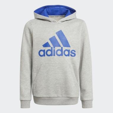 Sweat-shirt à capuche adidas Essentials gris Adolescents Entraînement