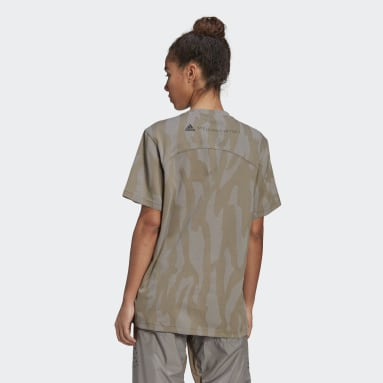 Women adidas by Stella McCartney Brown adidas by Stella McCartney Future Playground T-Shirt