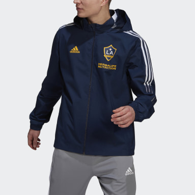 Men Football Blue LA Galaxy All-Weather Jacket