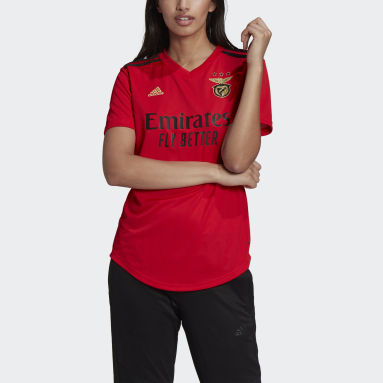 Women Football Red Benfica Home Jersey