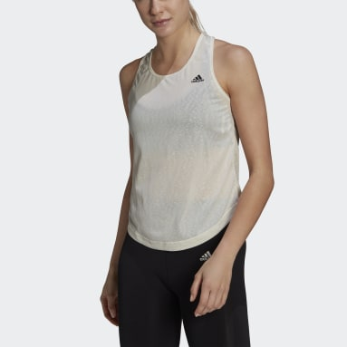 Women Training White adidas Designed 2 Move AEROREADY Dance Tank Top