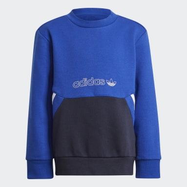 Deti Originals modrá Súprava adidas SPRT Collection Crew