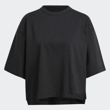 Frauen Y-3 Y-3 CH3 Raw Jersey Logo T-Shirt Schwarz