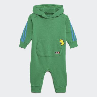 Infants Training Green adidas x Classic LEGO® Hooded Onesie