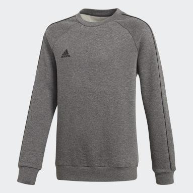 Sweat-shirt Core 18 Gris Enfants Fitness Et Training