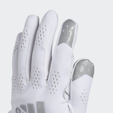 Men's Football White Adizero 11 Turbo Gloves