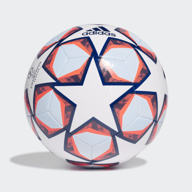 Football White UCL Finale 20 Texture Training Ball