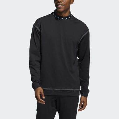 Men Golf Black Equipment Wind Crew Sweatshirt