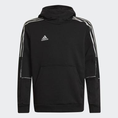 Sweat-shirt à capuche Tiro Reflective Noir Garçons Football