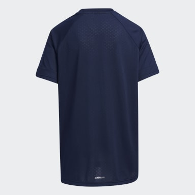 Boys Lifestyle Blue Badge of Sport Tee