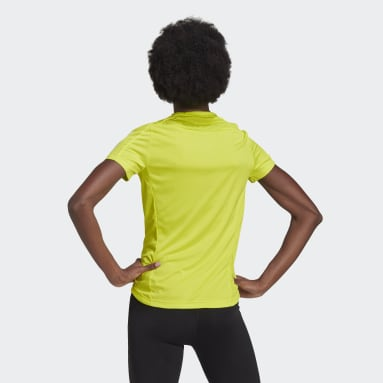 Women Running Yellow Own the Run T-Shirt