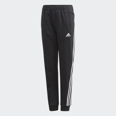 Meisjes Fitness En Training zwart 3-Stripes Tapered Leg Broek