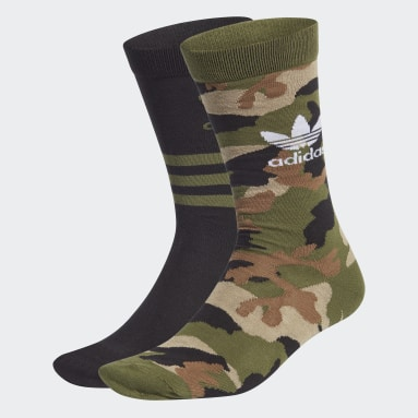 Originals Grön Camo Crew Socks 2 Pairs