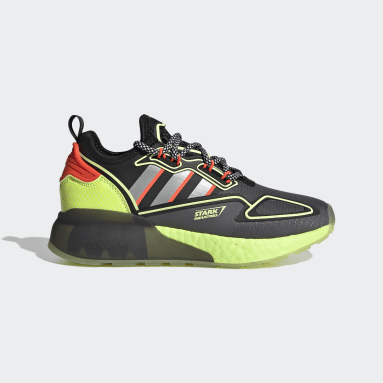 Youth Originals Grey ZX 2K Boost Marvel Shoes
