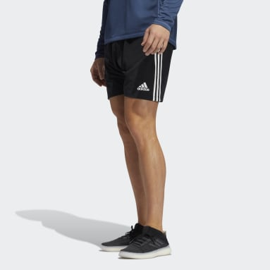 Men Training Black Player 3-Stripes Sweat Shorts