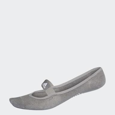 Women Studio Grey Yoga Socks - M/L