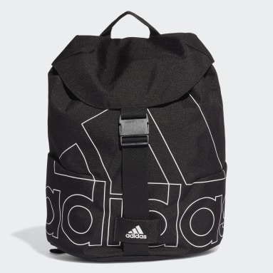Women Yoga Black Flap Backpack