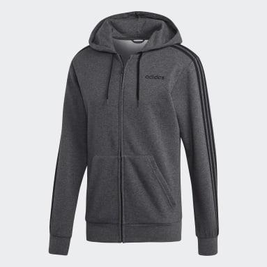 Veste à capuche en molleton Essentials3-Stripes Gris Hommes Sportswear