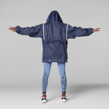Frauen adidas by Stella McCartney adidas by Stella McCartney TruePace Run WIND.RDY Jacke Blau