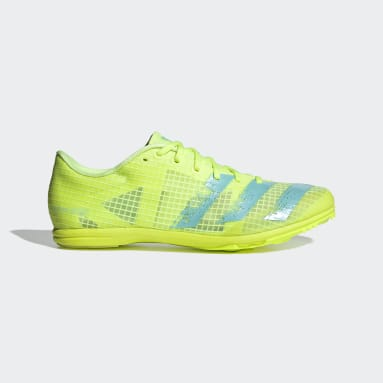 Women Track & Field Yellow Distancestar Spikes